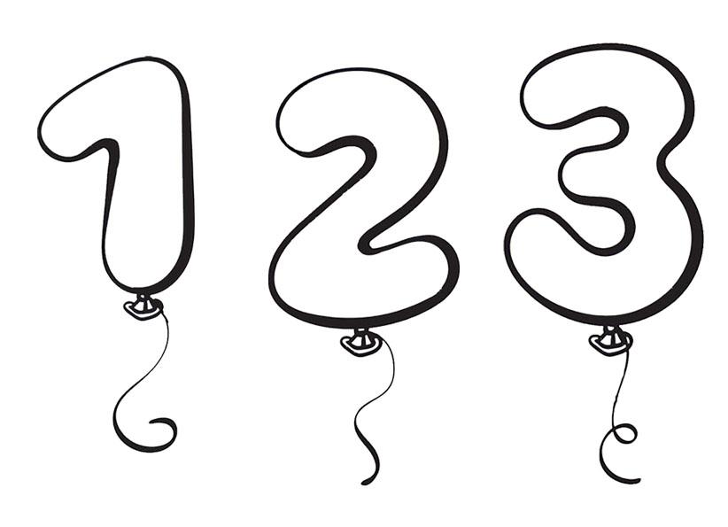 Numeri da 1 a 10 da colorare