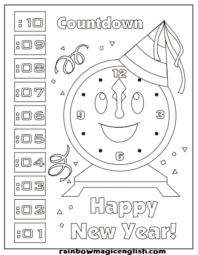 Capodanno disegni da colorare