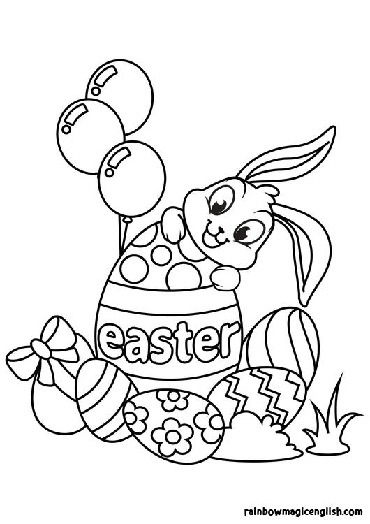 Disegni di Pasqua da colorare e lavoretto di Pasqua