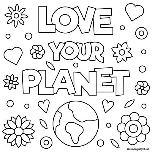 Giornata della Terra disegni da colorare!