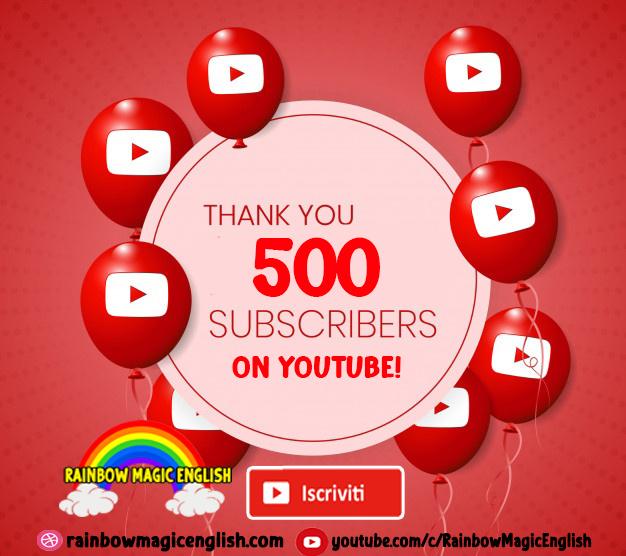 Raggiunti i 500 iscritti su YouTube!