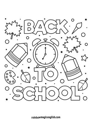 Back to school! Disegni e schede didattiche