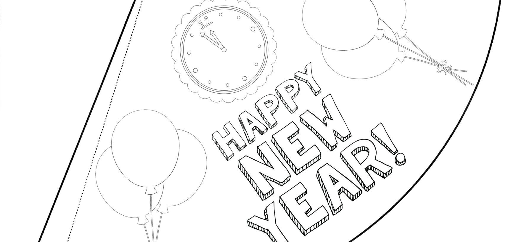 Capodanno disegni da colorare e lavoretti