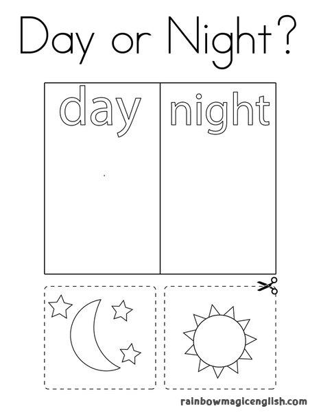 I contrari in inglese: schede e disegni da stampare e colorare