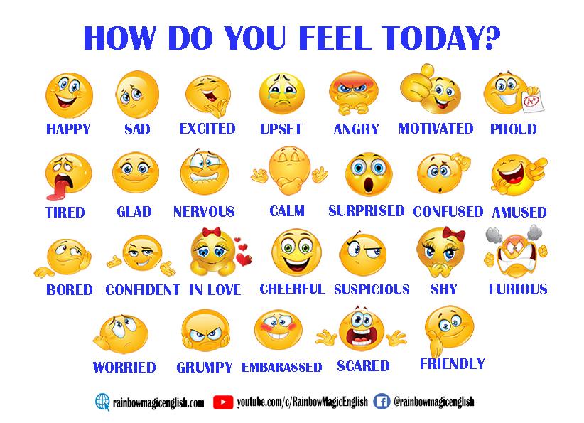 Sentimenti ed emozioni in inglese schede didattiche